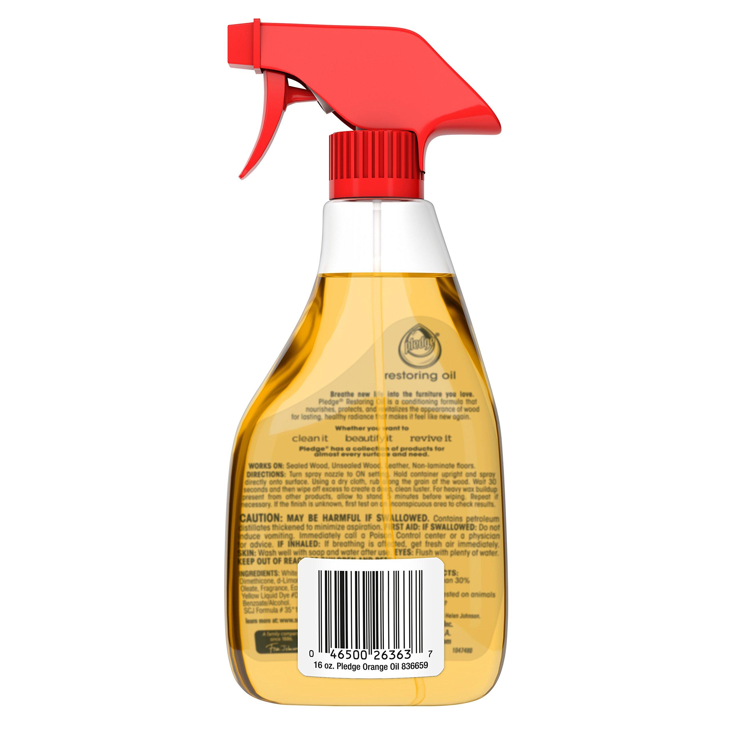 Pledge Revive It Restoring Oil (Orange, 16 oz - Pack of 4) by Pledge