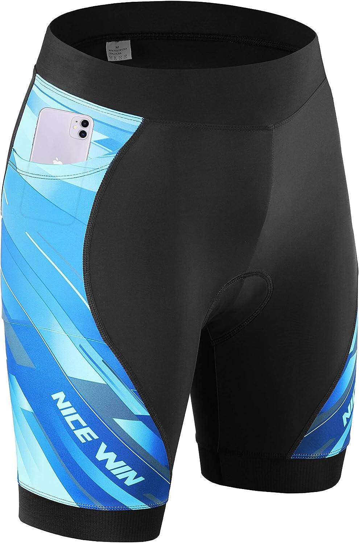 NICEWIN Shorts Biker para Mujer Mallas Acolchadas para Ciclismo Leggings Cortos para Montar en Cintura Alta