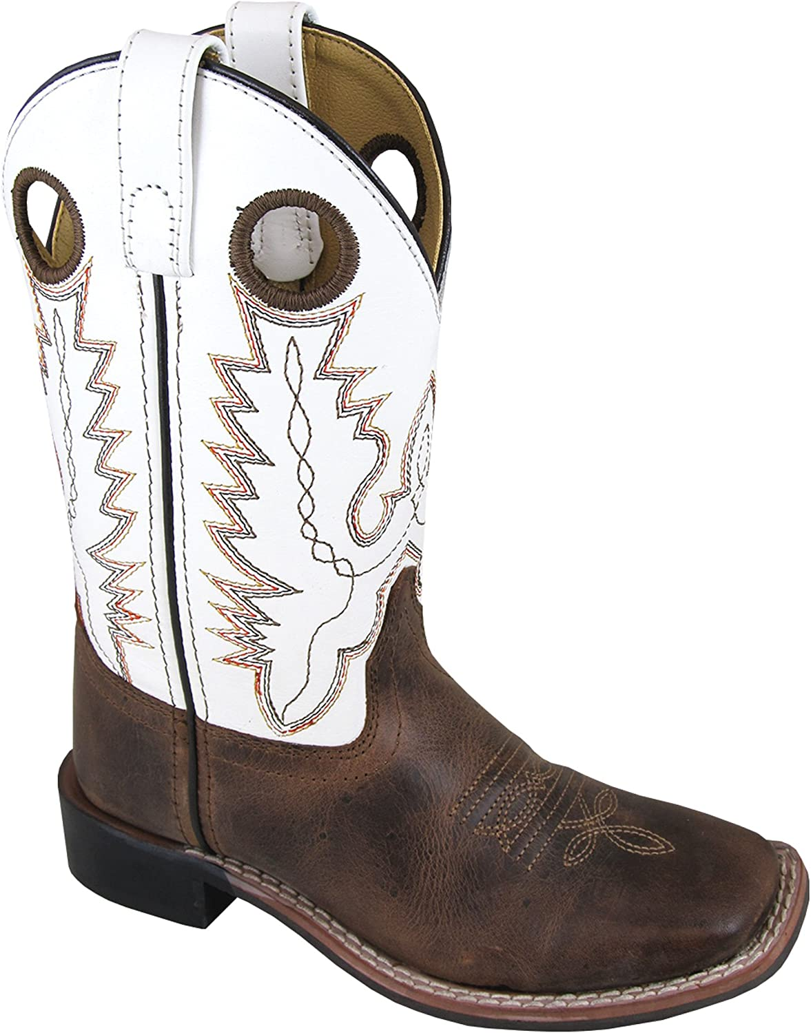 Brown Distress//Green Crackle 1 M US Smoky Mountain Boys Jesse Square Toe Western Cowboy Boot