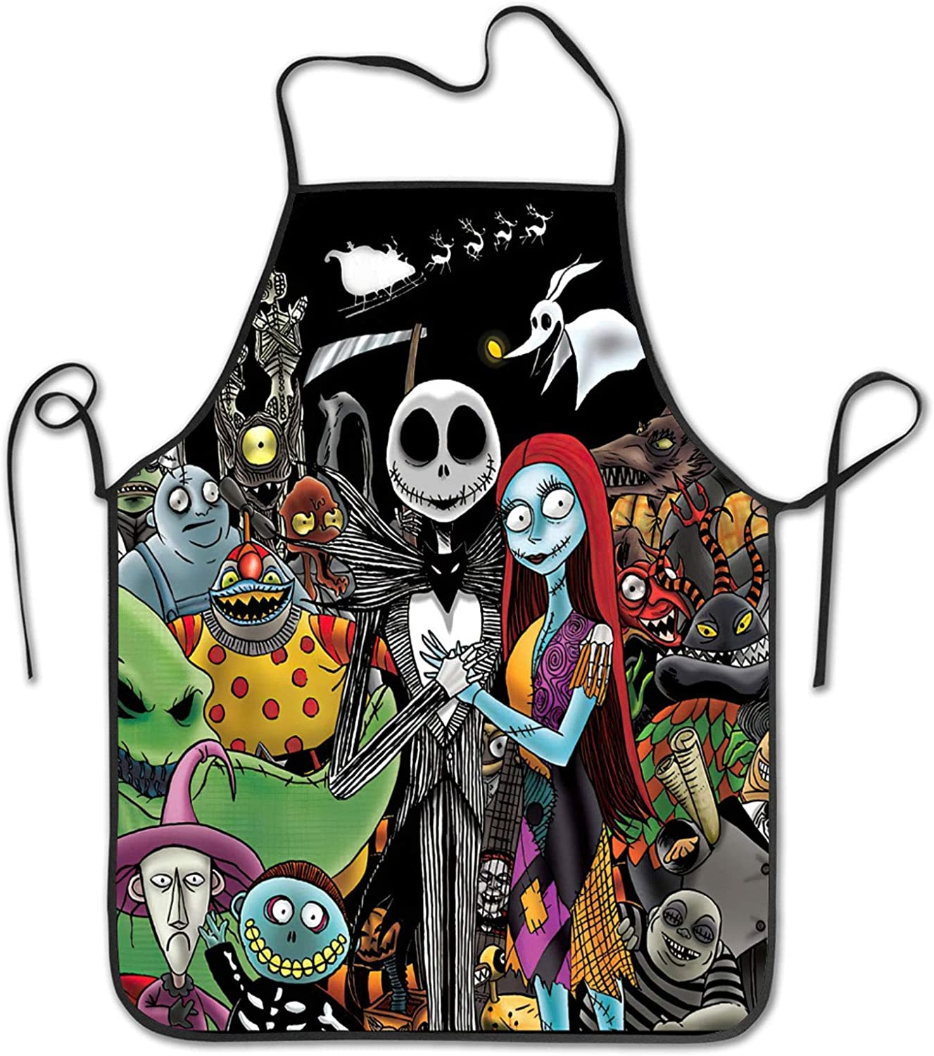 HADUOC The Nightmare Before Christmas Aprons Unisex Apron Kitchen Cook Bib BBQ Apron, 4, adults