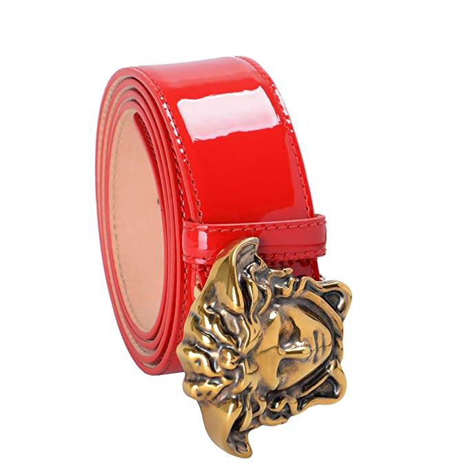 2b3fc912cc5f Versace 100% Leather Red Men s Fashion Belt US 42 IT 105  Amazon.ca   Clothing   Accessories