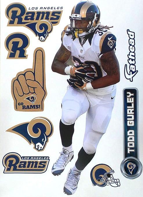 3c477c8d FATHEAD Todd Gurley Los Angeles Rams Logo Set Official NFL Vinyl Wall  Graphics 16