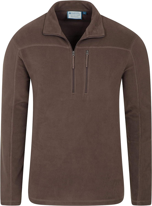 Mountain Warehouse Mens Fleece Microfleece Winter Sweater Top