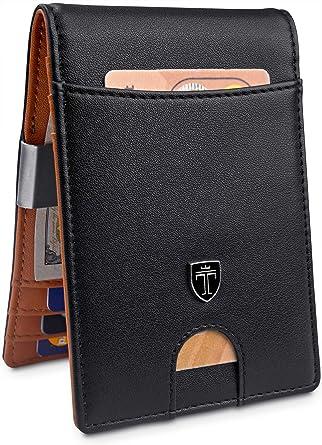 """3408fa3a31e2 TRAVANDO Money Clip Wallet""""RIO"""" Mens Wallet Front Pocket Wallet  Slim Wallets RFID Blocking"""