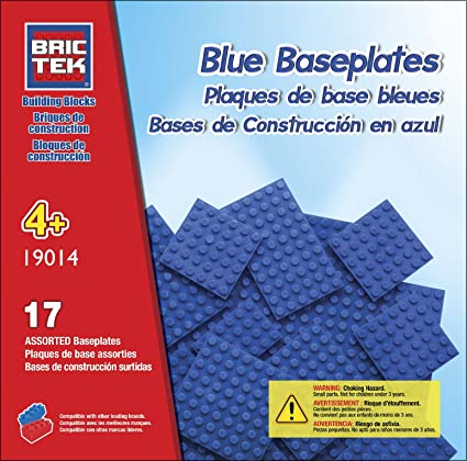 Brictek Base Plates Multi Sizes Grey 17 pcs