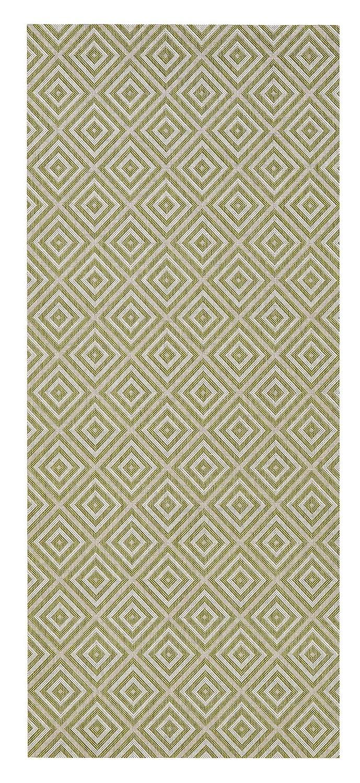Bougari Karo In-und Outdoorteppich, Outdoorteppich, Outdoorteppich, Polypropylen, Grün, 290.0 x 200 x 0,8 cm 924567