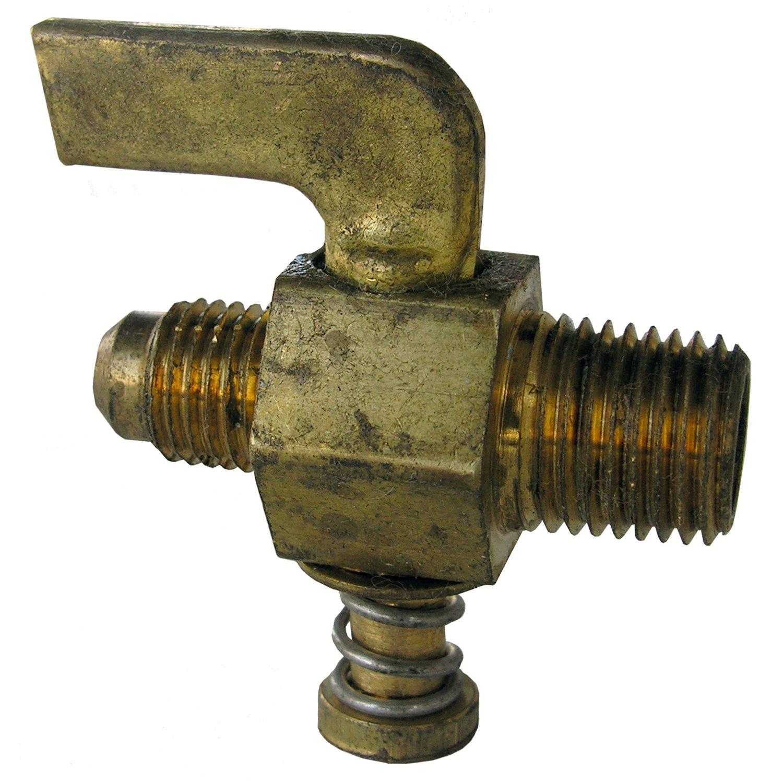 LASCO 17-2311 1//4-Inch Compression by 1//4-Inch Male Pipe Thread Lever Handle Brass Shutoff Cock