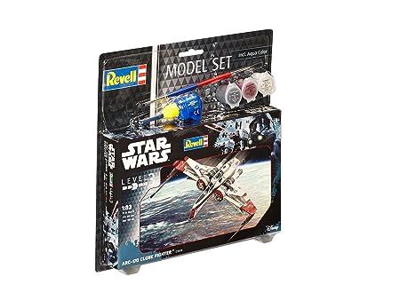 Revell Revell-ARC-170 Star Wars Set ARC-170 Fighter, en Kit Modelo con Base Accesorios, fácil Pegar y para pintarlas, Escala 1:83 (63608), 10,0 cm de Largo ...