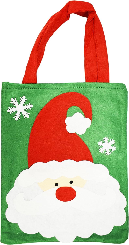 Felt Bag Gift Bag Christmas Bag Reindeer 17x7x9cm BrownXmas Weihnachte