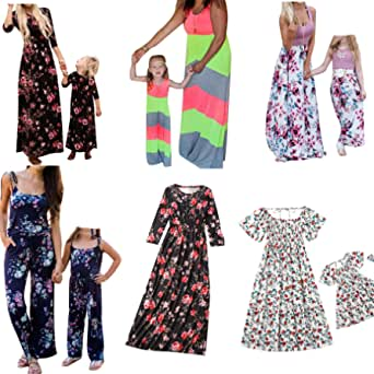 Mommy and Me Dresses, (Items are Sold Separately) Mother and Daughter Dresses Casual Floral Family Outfits Matching Dress