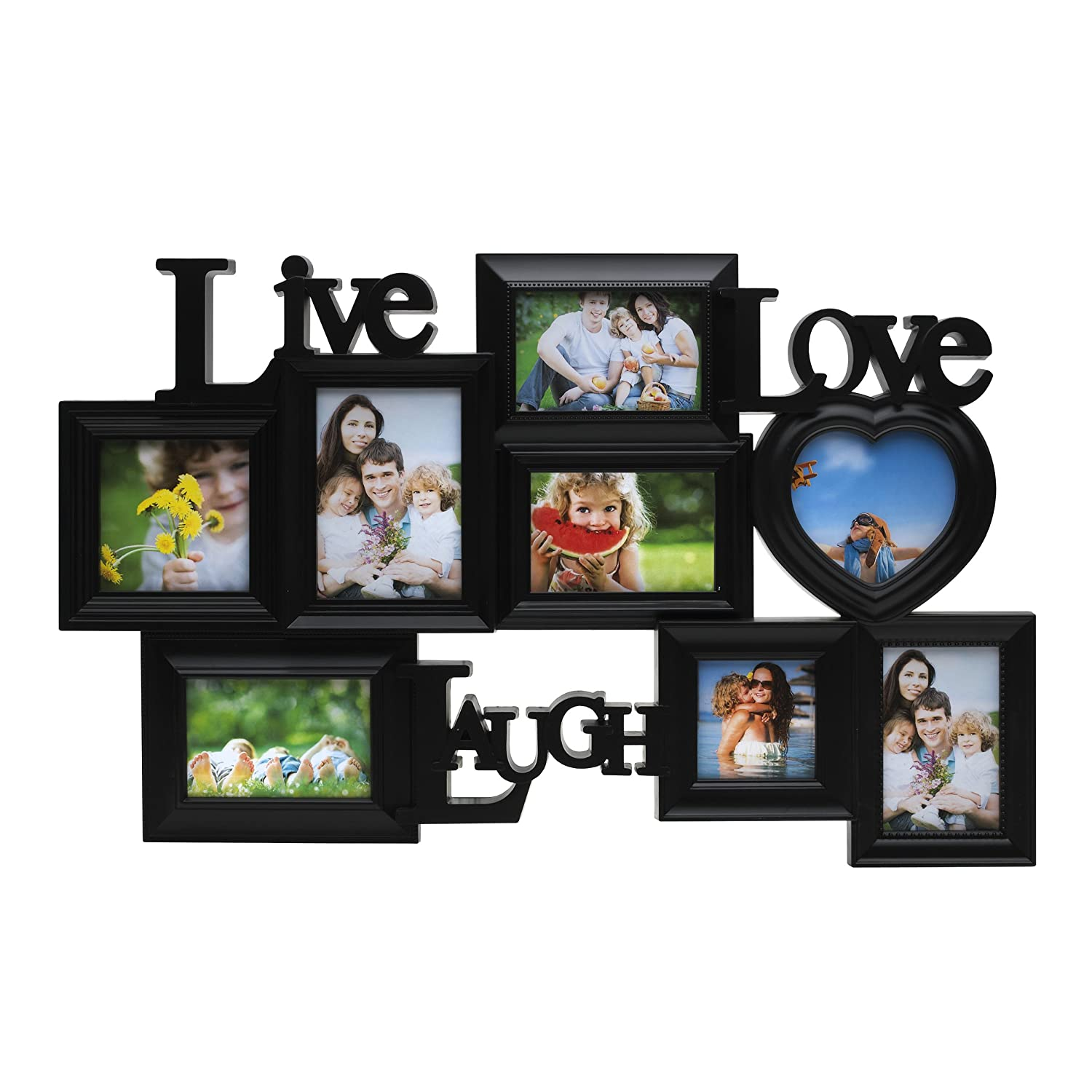 Melannco 8-Opening Live Laugh Love Collage (Black)