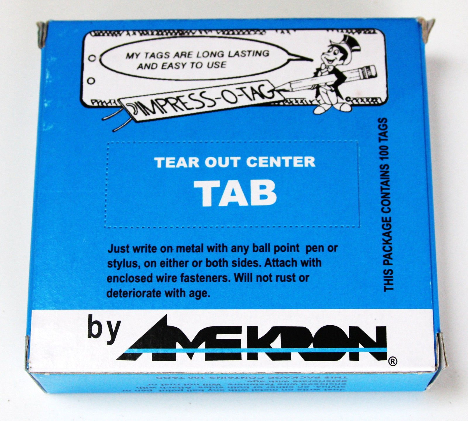 Amekron Impress O Tag, Aluminum Plant Label Tree Labels Tags Outdoor 500 Labels