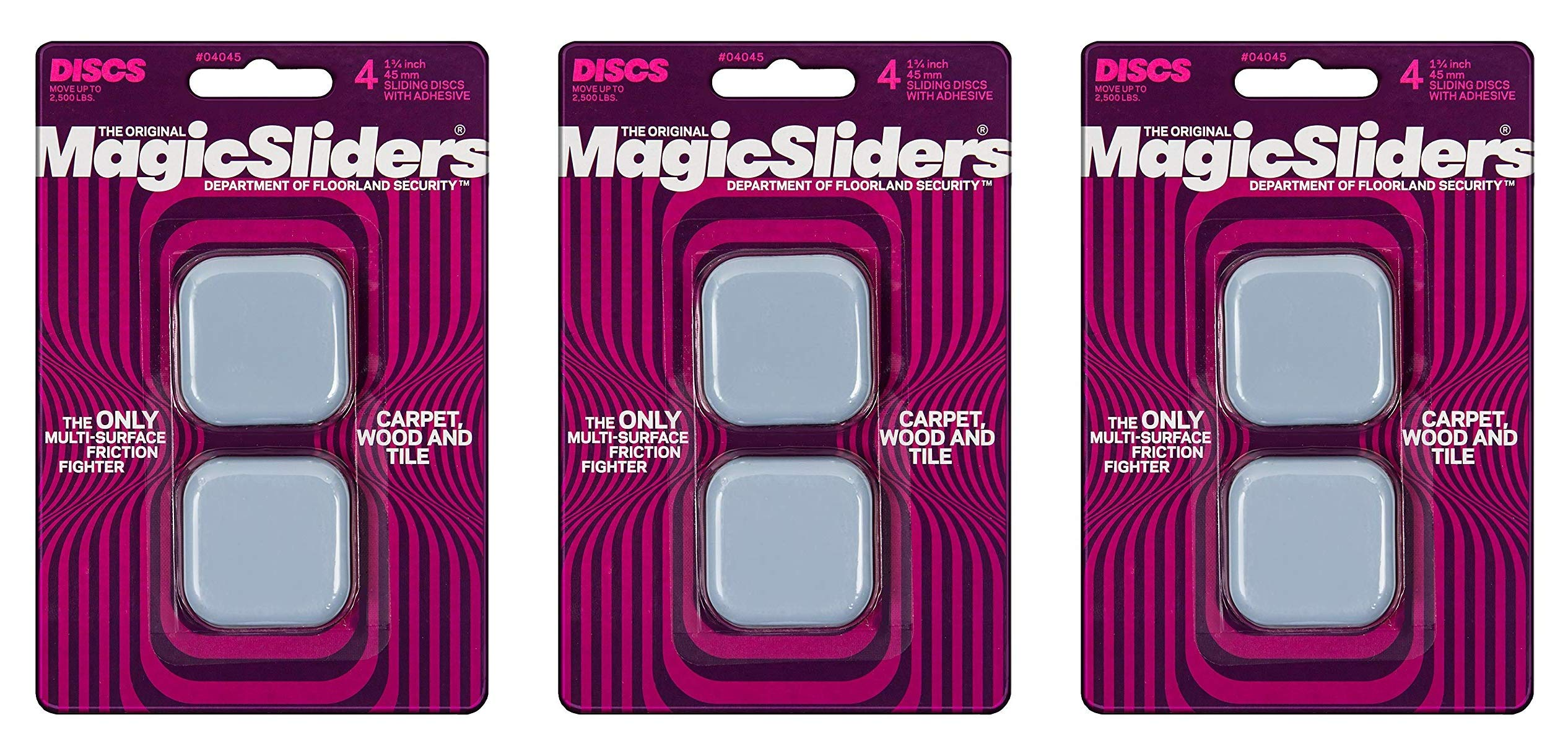 MAGIC SLIDERS L P 4045 4 Pack 1-3/4'' Magic Slider (Вundlе оf Тhrее)