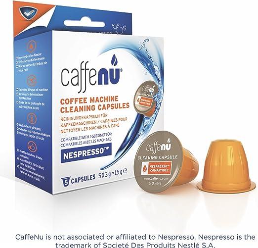 Caffe Nu – Cápsulas limpiadoras para máquina de café Nespresso - 5 ...