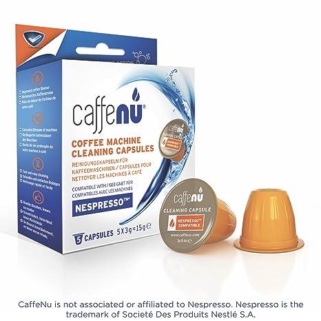 Caffe Nu – Cápsulas limpiadoras para máquina de café Nespresso - 5 unidades
