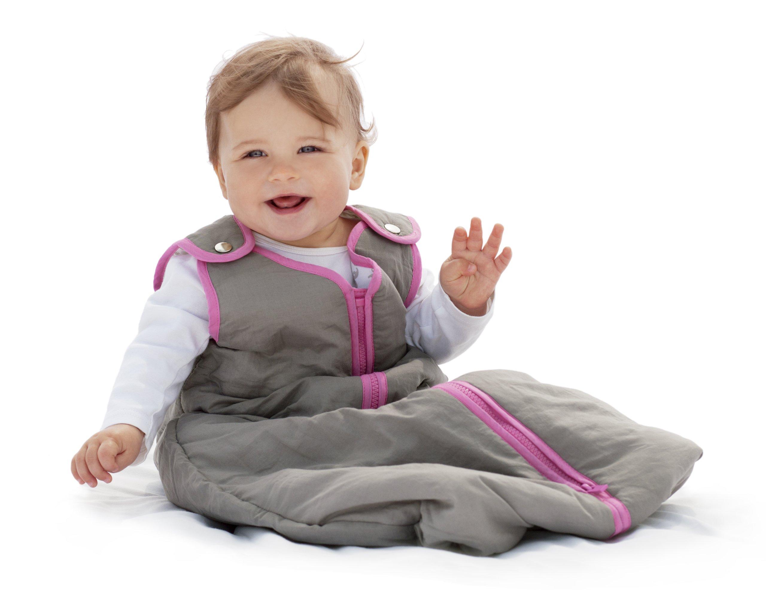 baby deedee Sleep Nest Baby Girls Baby Sleeping Bag, Wearable Blanket Sleeper, Slate Hot Pink, Medium