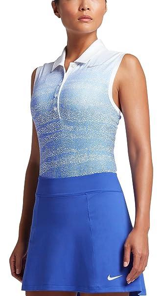 Nike Prcsn Zebra Fade SL - Camiseta Polo sin Mangas de Golf Mujer ...