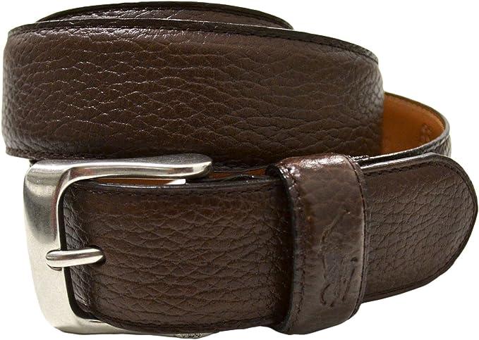 Ralph Lauren Polo Cinturón de cuero - Marrón -: Amazon.es: Ropa y ...