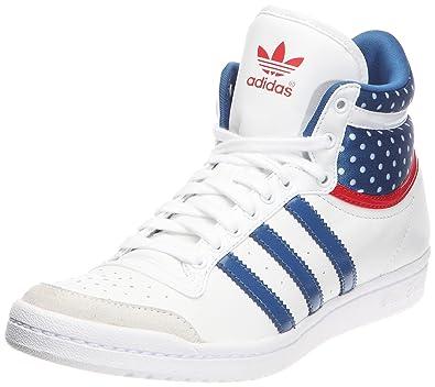 adidas Originals Top Ten Hi Slee, Chaussures lifestyle baskets mode femme -  Blanc Bleu 5c9944d5a37b