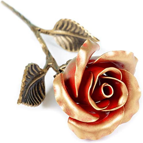 Hand Forged Iron Rose – Romantic Metal Gift