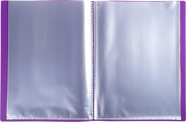 80 buste e 160 facciate Formato A4 Colore copertina Viola Exacompta 88826E Portalistini Opak in polipropilene opaco con buste interne lisce ad alta trasparenza