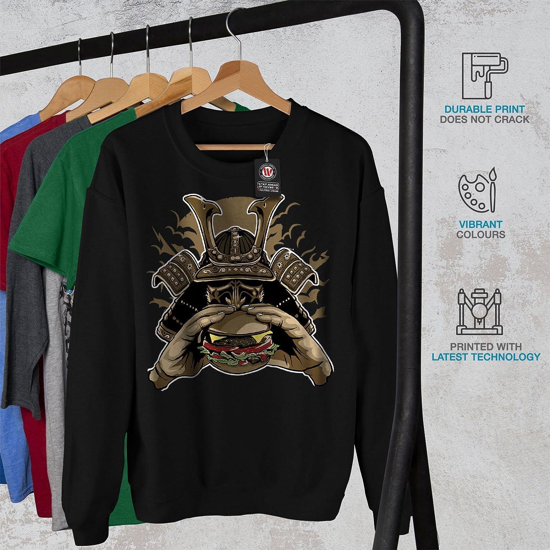 Casual Jumper wellcoda Hamburger Armor Japan Mens Sweatshirt