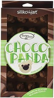 silikomart SF141 molde para chocolate con forma de panda, 24 cavidades, color marrón