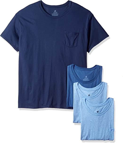 Hanes Men/'s 4 Pack Pocket T Shirt Tagless Comfort-soft Sizes M-2-XL Brand New