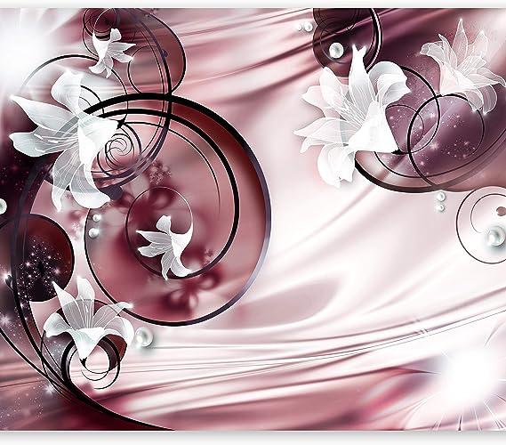 Imagen demurando Fotomurales Flores 350x256 cm XXL Papel pintado tejido no tejido Decoración de Pared decorativos Murales moderna Diseno Fotográfico Lirio Abstracto a-a-0050-a-d