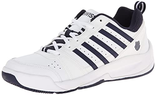 K-Swiss Performance Men's Vendy Ii Tennis Shoes, White (White/Navy 109