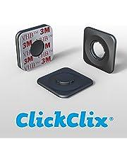 ClickClix Sistema de fijación Ideal Via-t/Telepeaje/Teletac, móvil, GPS, Router Adhesivo (Patentado)