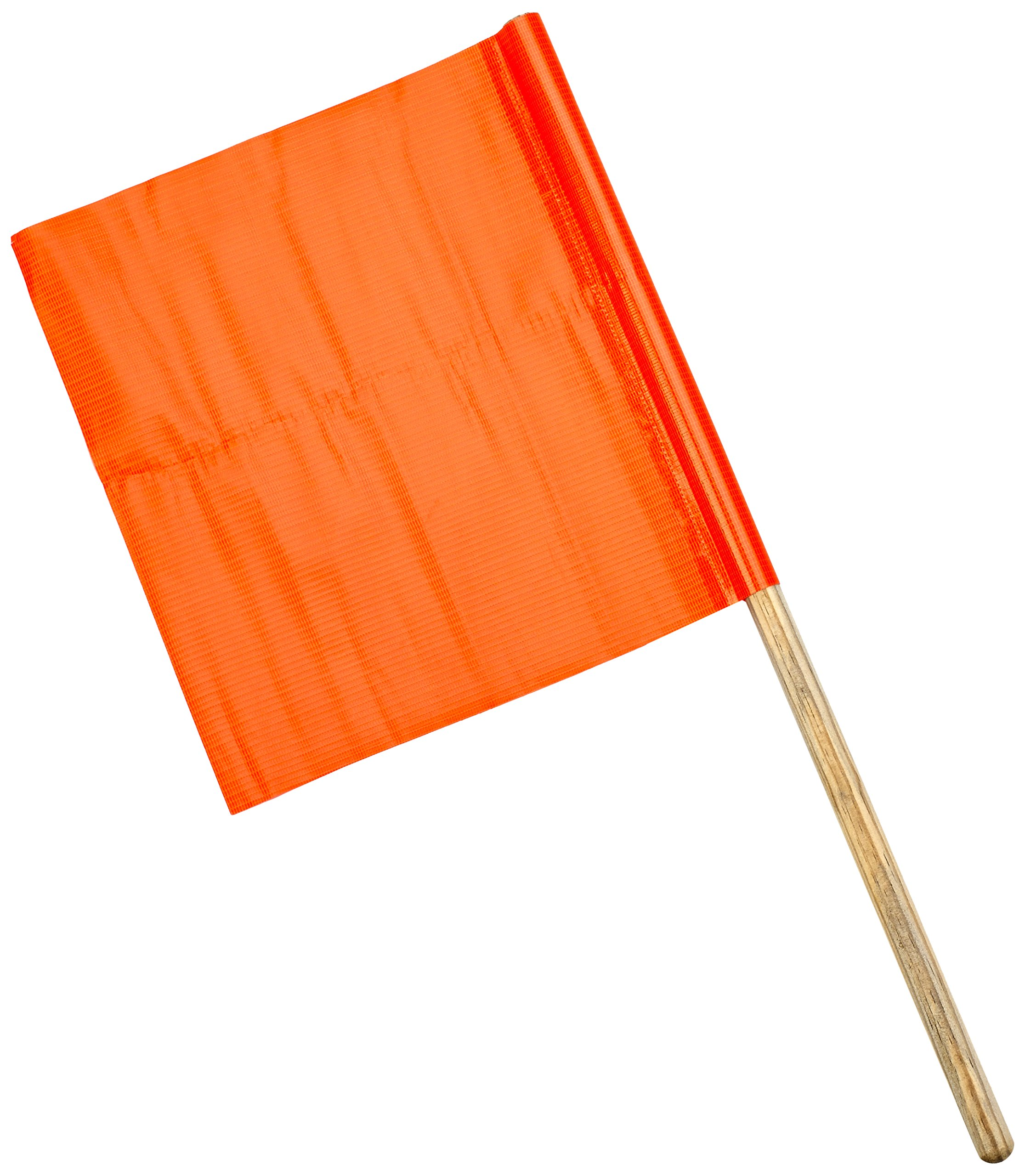 Mutual Industries 14994-0-12 Standard Vinyl Highway Safety Traffic Warning Flag, 12'' x 12'' x 24'' (Pack of 10)