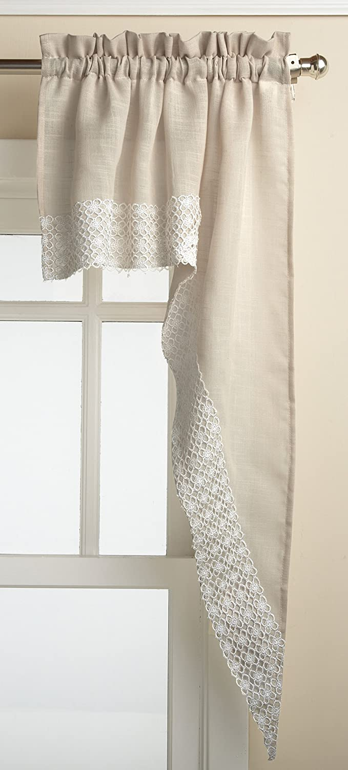 Lorraine Home Fashions Salem 60-inch x 36-inch Tier Curtain Pair, French Vanilla