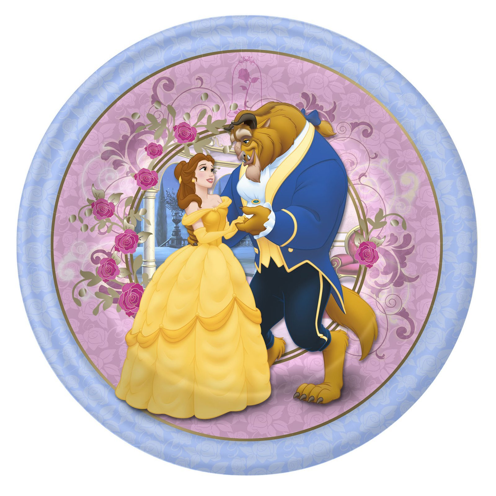 Beauty and the Beast 'Belle' Large Paper Plates (8ct) by Hallmark