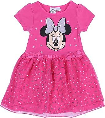 Minnie Mouse -:- Disney -:- Vestido de Tul, Color Rosa: Amazon.es ...