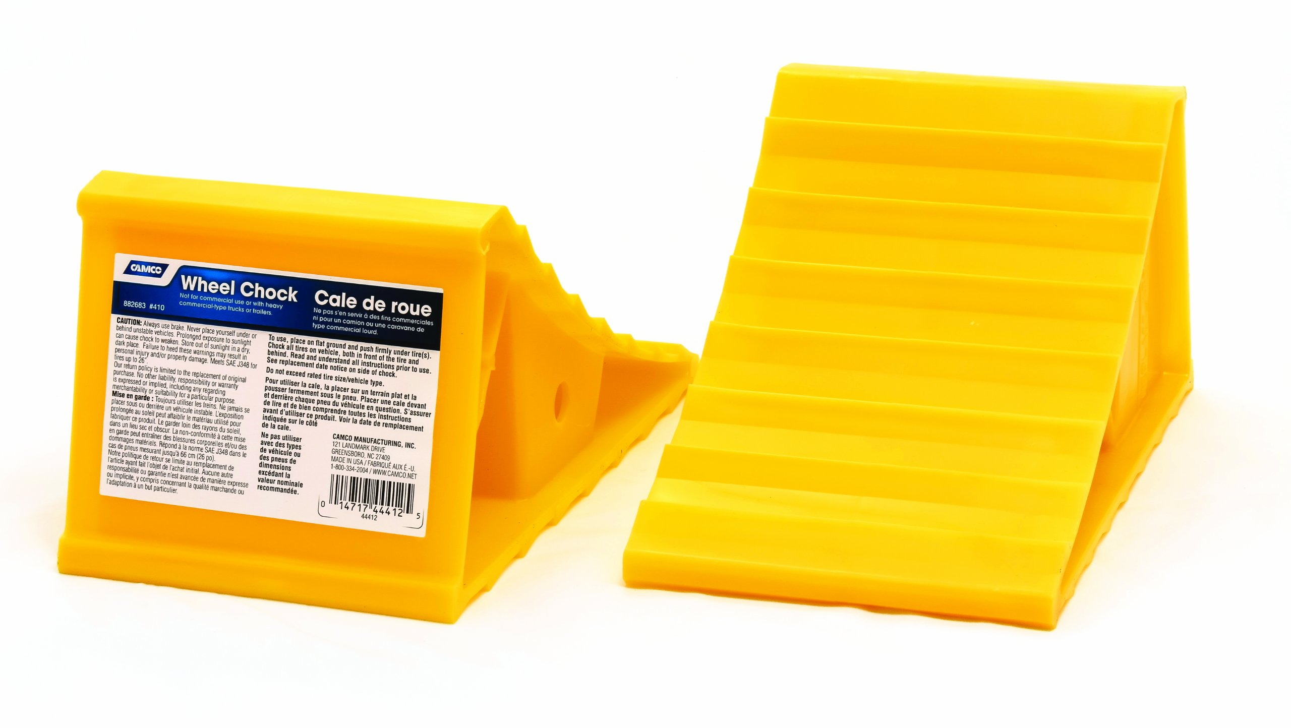 Camco Wheel Chock Without Rope, Helps Keep Your Trailer or RV In Place (Pack of 2)