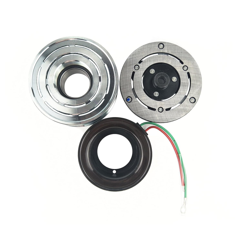wisepick AC Compresor de magnético embrague para Sanden trse07 trse09 Honda Civic CRV 7pk 12 V: Amazon.es: Coche y moto