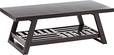 Amazon Com Alaterre Pomona Rustic Coffee Table Kitchen