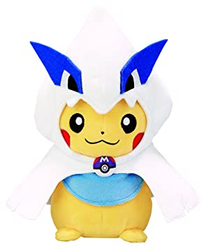 Pokemon Center Japan Original Stuffed Lugia Poncho Pikachu Peluche