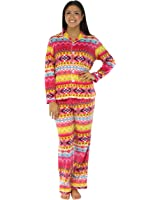 Frankie & Johnny Women's Sleepwear Fleece Long Sleeve Pajama