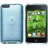 ChannelExpert TPU Rubber Hülle case Tasche Bumper Etui Cover Schutzhülle Schutzcover für Apple iPod touch 2nd / 3rd Gen transparent blau Concentric Circle