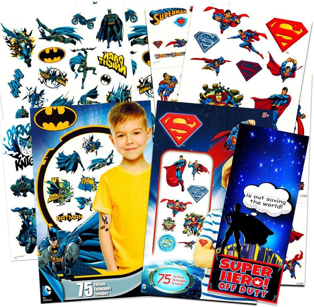 Amazon.com: Batman v Superman Superman Tatuajes Temporales ...