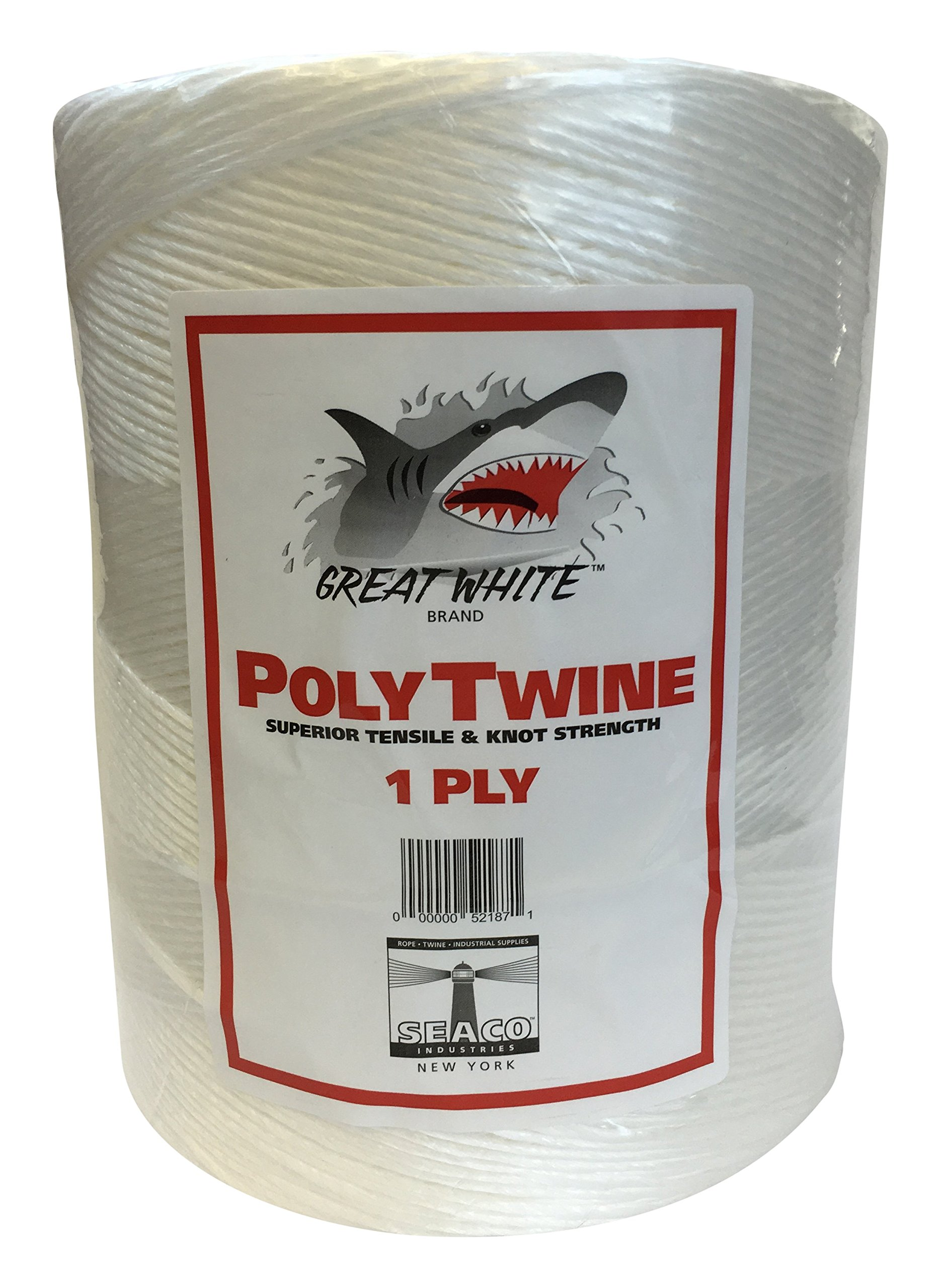 GREAT WHITE GWPT1 Poly 1-Ply Tying Twine 6,500' by Great White