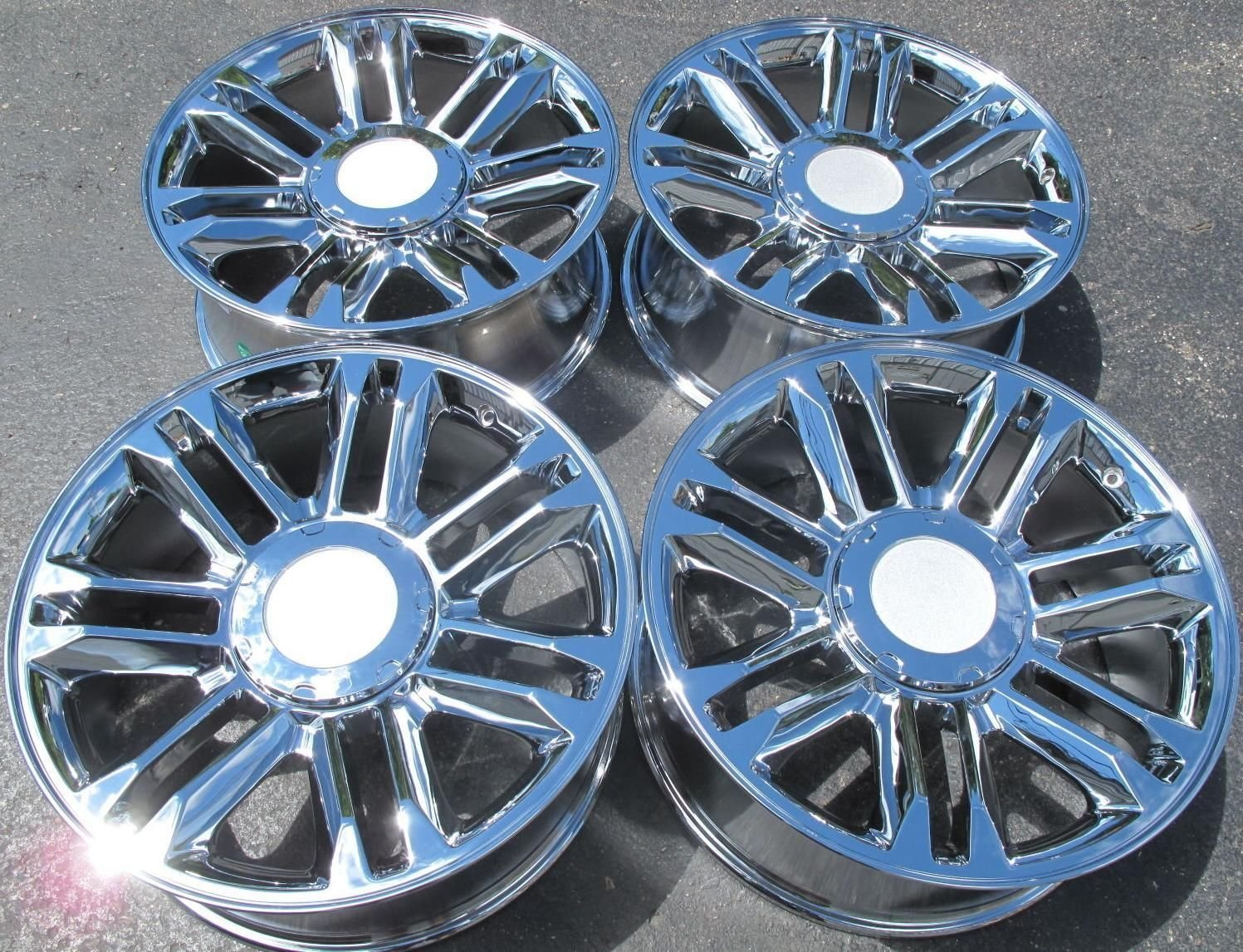 fit wheels midnight ws edge srx silver for oem milled rims cadillac