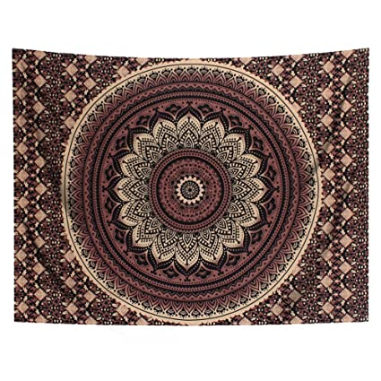 Smart Home Polyester Indian Mandala Tapestry Wall Art Hanging Carpet Beach Towels Decorative Blankets Tablecloths Home Decor Accessories
