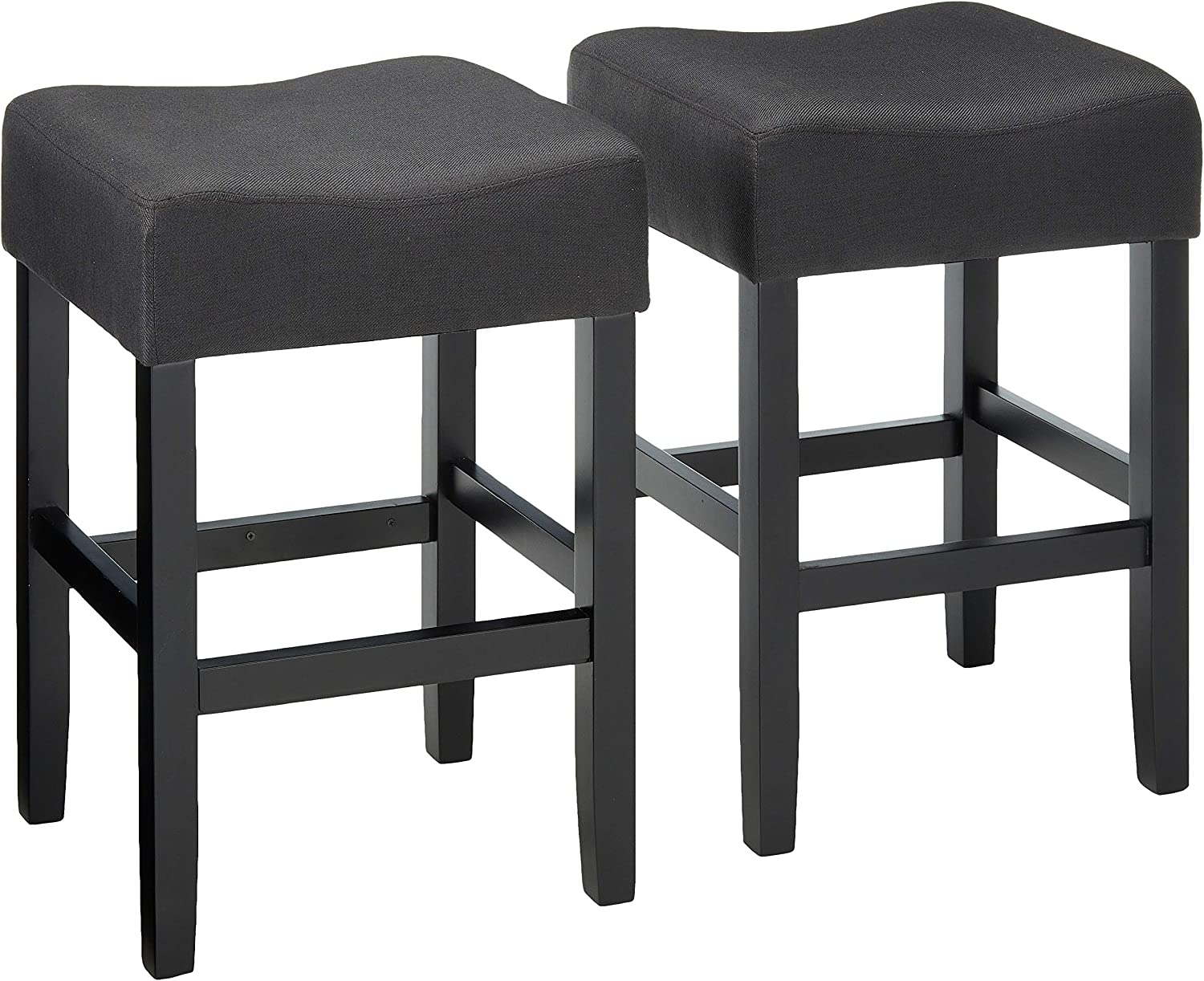 Christopher Knight Home 300877 Portofino Backless Dark Charcoal Fabric Counter Stools (Set of 2)
