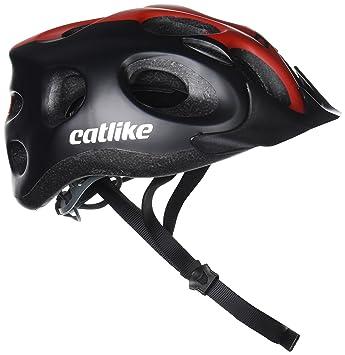 Catlike Tiko MT CV Casco de Ciclismo, Unisex Adulto, Negro (Black/Red