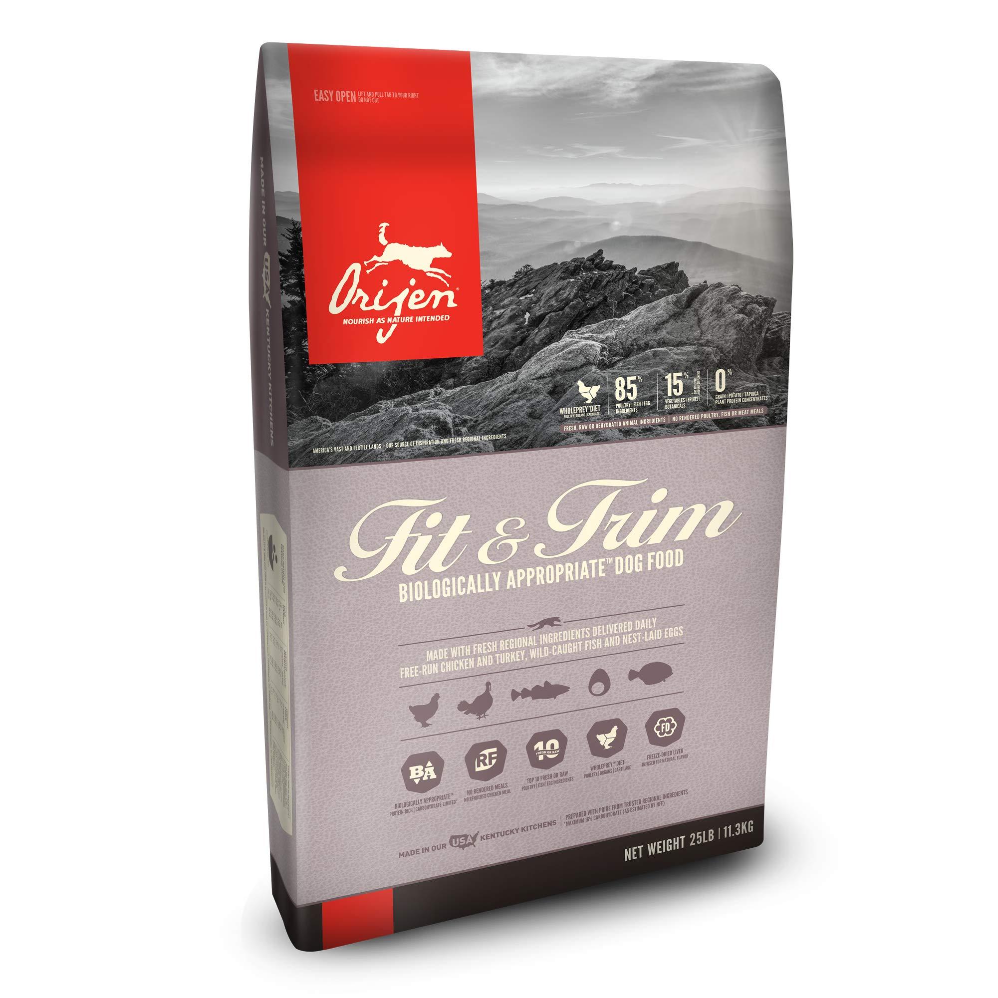 ORIJEN Dry Dog Food, Fit & Trim, Biologically Appropriate & Grain Free