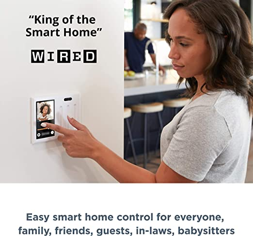 Amazon Com Brilliant Smart Home Control 3 Switch Panel Alexa Built In Compatible With Ring Sonos Hue Google Nest Wemo Smartthings Apple Homekit In Wall Touchscreen Control For Lights Music More Home