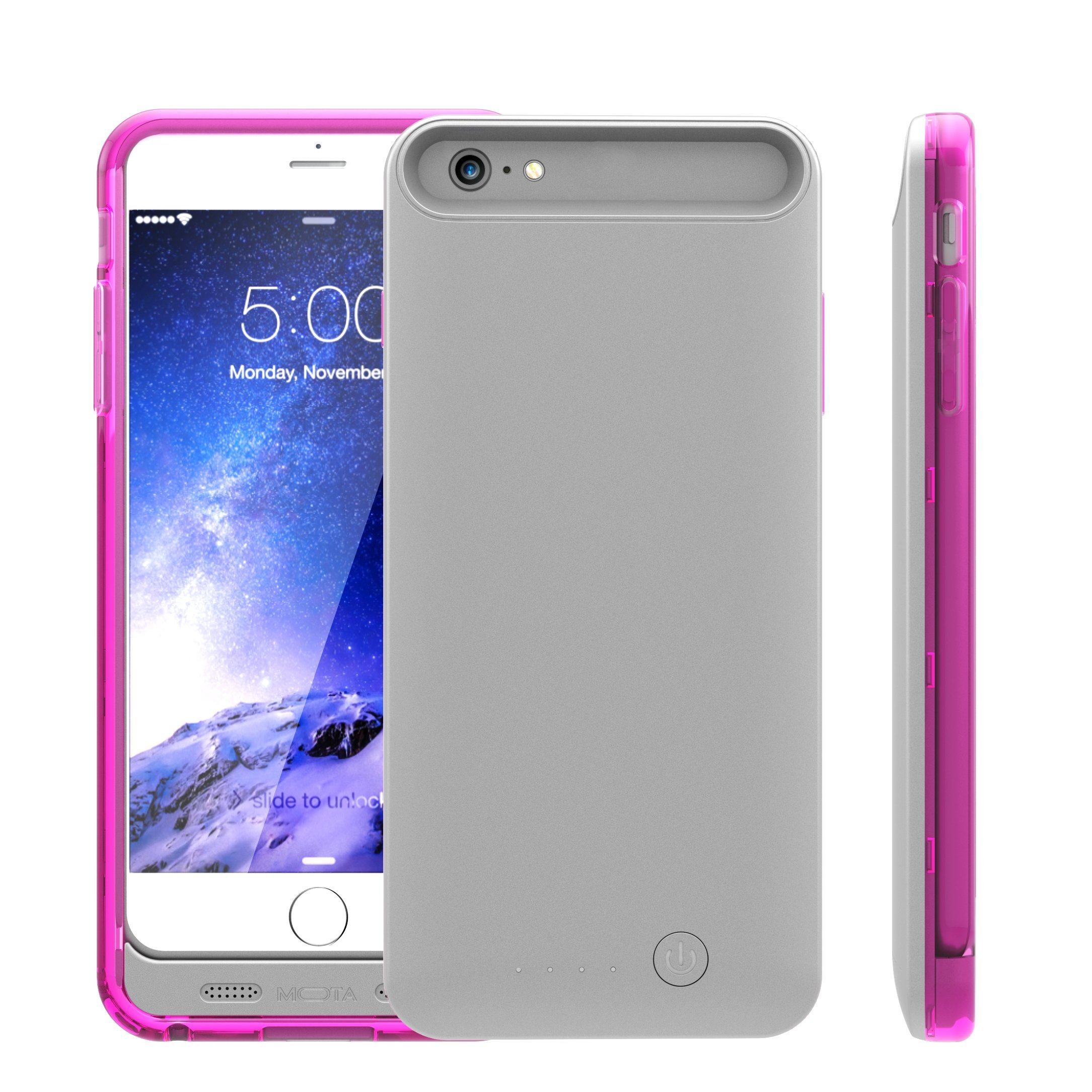 TAMO iPhone 6/6s Extended Battery Case, TAMO 2400 mAh dual-purposed Ultra-Slim Protective Extended Battery Case - Pink - Battery - Retail Packaging - Pink by TAMO (Image #2)